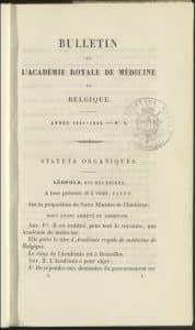 Bulletin Academie royale de medecine