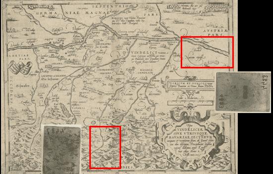carte de la Bavière d'Abraham Ortelius