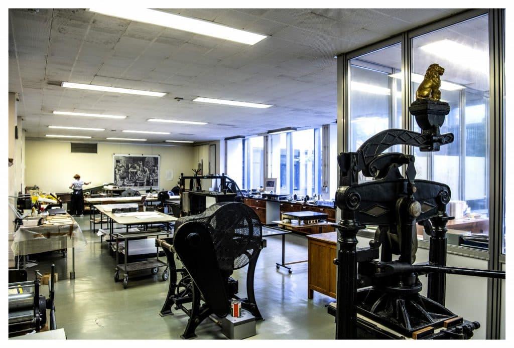 Het chalcografie-atelier van KBR