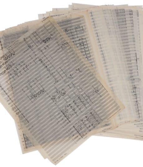 partituren Philippe Boesmans © Ader